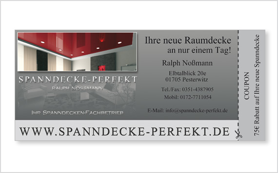Wertcoupon mit Perforation
